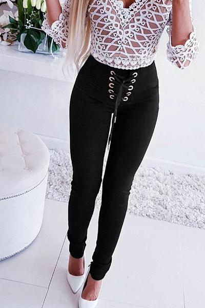 Women Casual Plain Pants