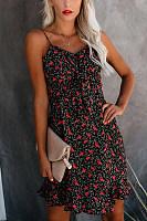 Sexy Open Shoulder Print Sling Dress