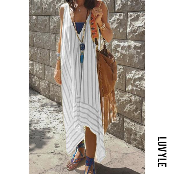 Stripe V Neck Striped Maxi Dresses Stripe V Neck Striped Maxi Dresses