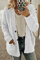 Women's Casual Round Neck Long Sleeve Loose Cardigan