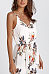 Spaghetti Strap  Belt  Floral Printed  Sleeveless Casual Dresses