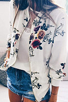 Floral Long Sleeve Zip Jacket