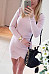 Round Neck  Asymmetric Hem  Plain  Long Sleeve Bodycon Dresses