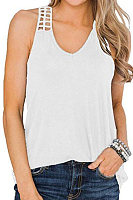 Plain Sleeveless T-shirt