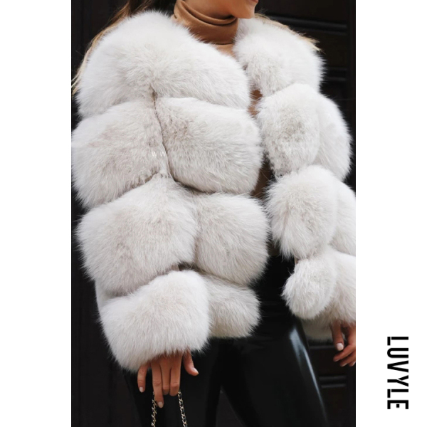 Autumn and winter short faux fur coat jacket - from $43.00