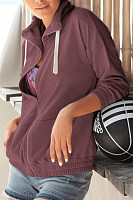 Hooded  Zipper  Plain Hoodies