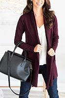 Women Casual Plain Cardigans
