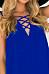V Neck  Lace Up  Plain  Sleeveless Casual Dresses