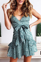 Spaghetti Strap  Floral Printed  Sleeveless Casual Dresses