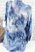 Ladies V Neck Tie Sleeve Printed Blouse