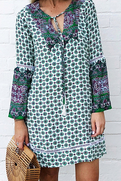 Women's Bohemian V-neck Dress
