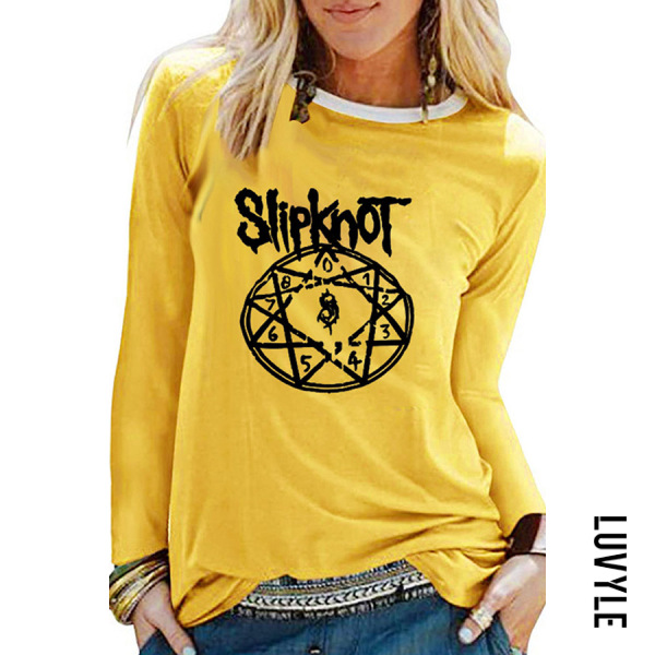 Yellow Round Neck Printed Colour T-Shirts Yellow Round Neck Printed Colour T-Shirts