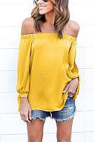 Off Shoulder Smocked Bodice T-shirts