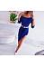 Sexy Solid Color One-Shoulder Slim Dress