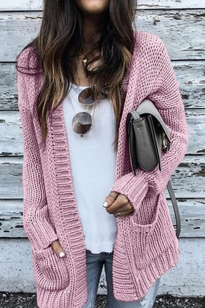 Medium  Everyday  Plain  Long Sleeve Cardigans