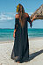 Off Shoulder  High Slit  Plain  Short Sleeve Maxi Dresses