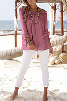 Off Shoulder  Bell Sleeve T-Shirts