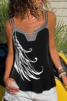 Round Neck  Printed Camis