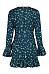 Deep V Neck  Dot  Bell Sleeve  Long Sleeve Casual Dresses