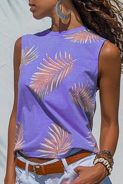 Fashion Print Vest Top