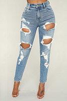 Shredded Hole, Small Feet, Jeans