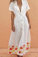 Women's Casual White Long Skirt