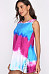 Round Neck  Decorative Lace  Tie Dye  Sleeveless Casual Dresses