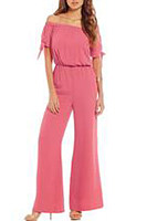 Summer Elegant Pure Color Soft Jumpsuit