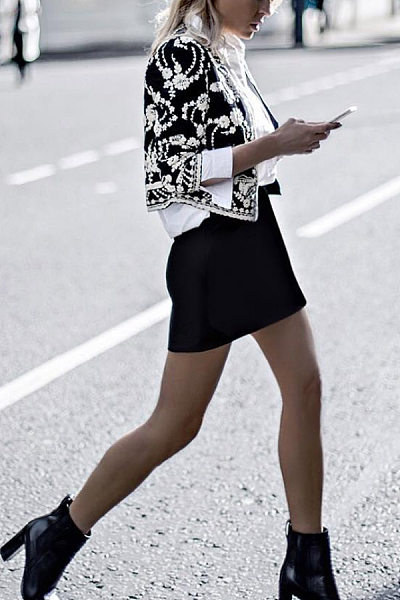 Bohemian Printed Short Jacket