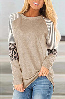 Round neck long sleeve solid color T-shirt