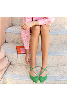 Women's fashion pointed low heel shoes