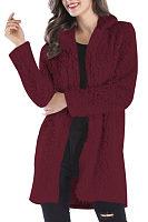Lapel  Plain Casual Coat