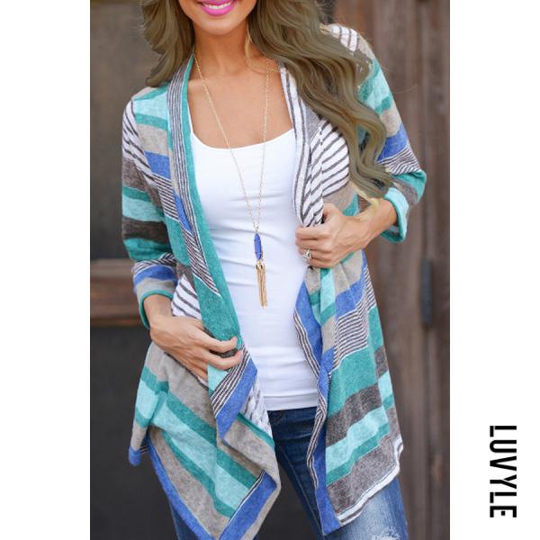 Stripes Knit Cardigans