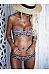 Collarless  Printed Bikini