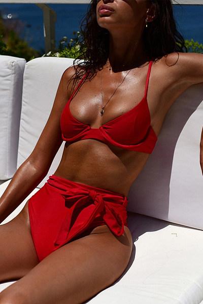 High Waist Straps Bow Bikini