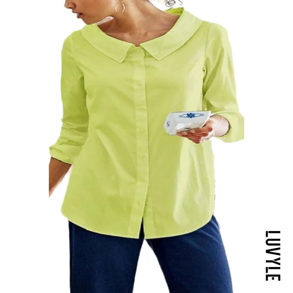 Casual Pure Color Cotton Blend Long Sleeve T-Shirt - from $20.00