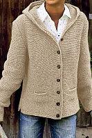 women Casual long sleeves hooded sweater
