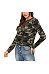 Sexy Camouflage Hollow Stitching Long Sleeve T-Shirt