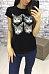 Round Neck Cat  Printed T-Shirts