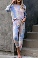 Gradient Casual Two-piece Outfits