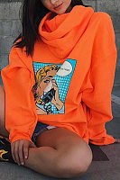 Hooded  Cartoon  Casual  Hoodies