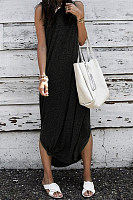 Sleeveless Slit Casual Dresses