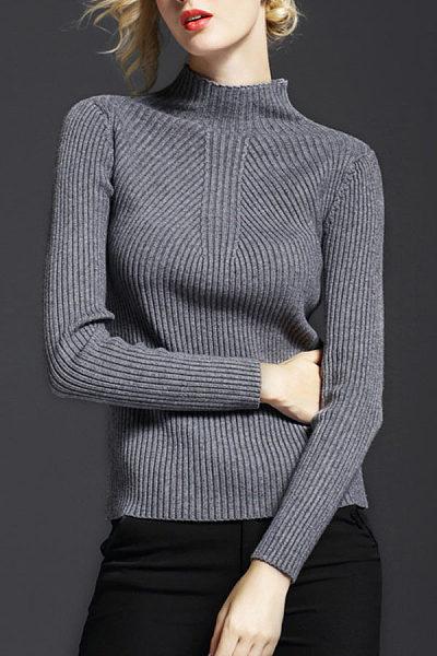Basic High Neck Sweaters