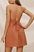 Halter  Backless Single Breasted  Plain  Sleeveless Skater Dresses