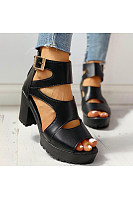 Women's  thick bottom Roman fish mouth sandals
