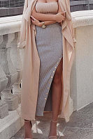 High Slit Long Skirts