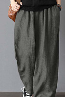 Cotton And Linen Casual Comfortable Loose Wide Leg Pants