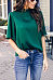 High Neck  Plain  Bell Sleeve T-Shirts