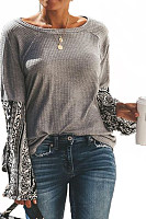 Round Neck  Loose Fitting  Print Sweaters