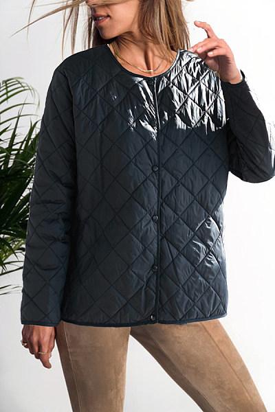 Round Neck  Plain Outerwear